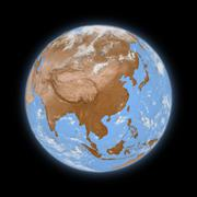 Southeast Asia on planet Earth - stock illustration