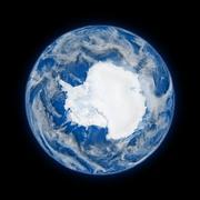 Antarctica on planet Earth - stock illustration