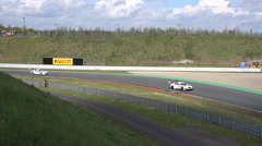 4k GT Masters speed racing motorsport curve race Stock Footage