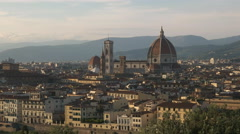 Duomo in florence from piazzale michelangelo Stock Footage