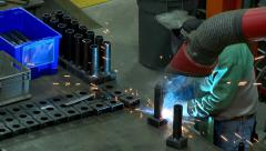 Welding Sparks Skilled Labor - stock footage