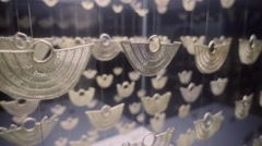 Zenu handcraft gold jewelry Stock Footage