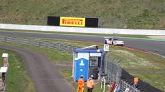 4k GT Masters racing motorsport corvette curve race - stock footage