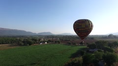Hot Air Balloon at sunrise in Africa. scene 3 Stock Footage
