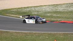 4k GT Masters speed racing motorsport curve race Audi TT Stock Footage