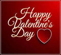 Stock Illustration of Valentines Day Vintage Lettering Background