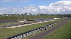 4k GT Masters speed racing motorsport curve race - stock footage