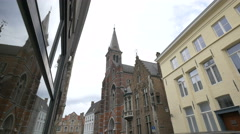 The Church of the Sacred Heart, Bruges Stock Footage