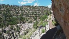 POV Walking Trail In Walnut Canyon National Monument - stock footage
