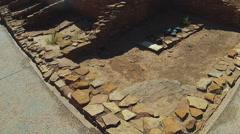 Tilt Wide Shot Native American Pueblo Ruins- Wupatki Monument - stock footage