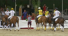Players polo game start Stock Footage