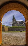 Kronborg castle Through The Archway - stock photo