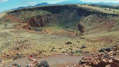 Wide Pan Northern Arizona Landscape- Wupatki National Monument Stock Footage