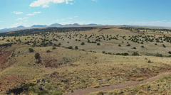 Wide Shot Northern Arizona High Desert Plateau Stock Footage