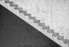 Grunge concrete staircase (artistic edit) Stock Photos
