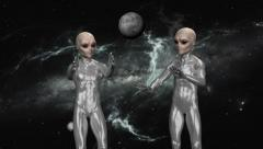 Aliens In Space , Animation Stock Footage