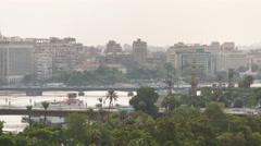 Cairo bridges traffic timelapse Stock Footage