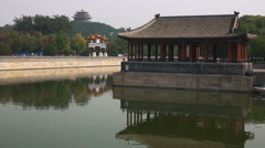 The moat around the forbidden city, beijing Stock Footage