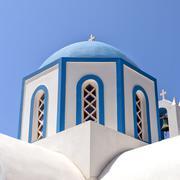 Kamari church Stock Photos