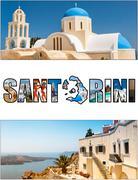 santorini letterbox ratio - stock photo