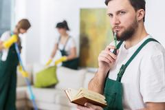 Cleaning business requires good organisation - stock photo