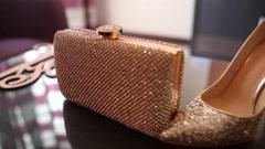 Golden Wedding Accessories - stock footage
