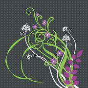 Beautiful floral ornament - stock illustration