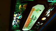Hanging Lantern In Japanese Restaurant Stock Footage