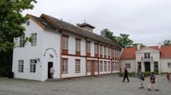 People visit musical instruments museum in Trondheim, Norway. - stock footage