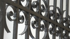 The iron gates. Close up of Stock Footage