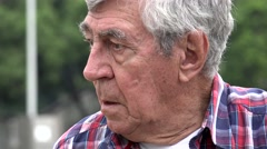Old Man Uncertain And Confused Stock Footage
