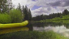 River and raft - stock footage