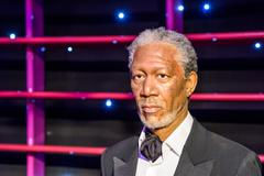 Morgan Freeman Figurine At Madame Tussauds Wax Museum Stock Photos