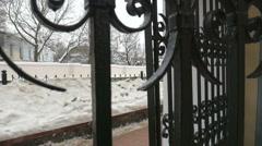 The iron gates, movement, Belarus, Minsk, Stock Footage