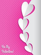 Cool valentine greeting card with hearts Stock Illustration