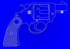 Snub Nose 45 Blueprint - stock illustration