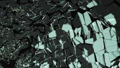 Glass shattered and cracked in slow motion. Alpha matte Stock Footage