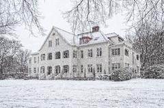 Stock Photo of ramlosa brunnspark flora house in winter