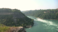 White Water Rapids of Niagara River In Canada Stock Footage