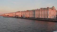 Saint Petersburg, Russia, October 16, 2015 - Winter Palace Hermitage Museum at Stock Footage