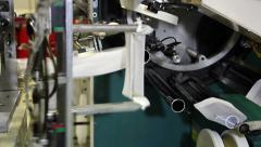 Pantyhose Making Machine Stock Footage