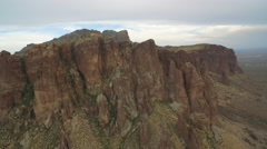 Aerial view of Superstition Mountains Stock Footage