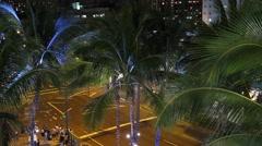 Waikiki Hawaii Time Lapse Stock Footage