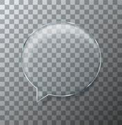 Vector modern glass bubble speech on sample background - stock illustration