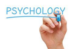 Psychology Hand Blue Marker Stock Photos