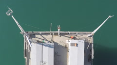 AERIAL: Scripps Pier, La Jolla, San Diego, California Stock Footage