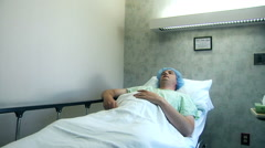 Man Waiting In Hospital For Operation Stock Footage