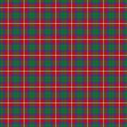 Roxburgh Red District Tartan - stock illustration
