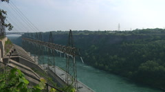 Electric Power Plant Dam In Niagara Gorge Stock Footage