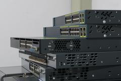 Network switch HUB - stock photo